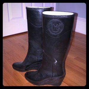 Hunter wedge rain boot